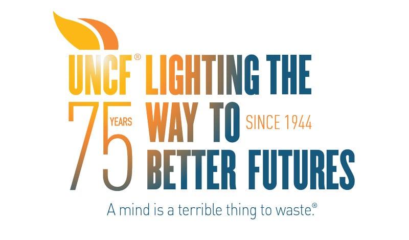UNCF 75th anniversary logo