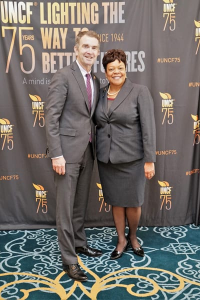 Gov. Northam and Robin Byrd, UNCF Area Development Director, Richmond