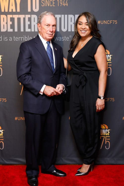 Michael R. Bloomberg and Sharlee Jeter, President, Turn 2 Foundation
