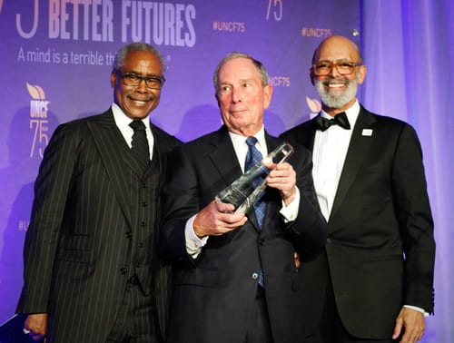 Ed Lewis, Michael Bloomberg and Dr. Lomax
