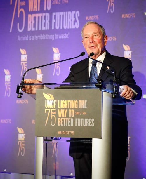 Michael R. Bloomberg giving his acceptance remarks for the Lifetime Achievement Award