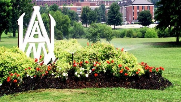 Alabama AM University sign