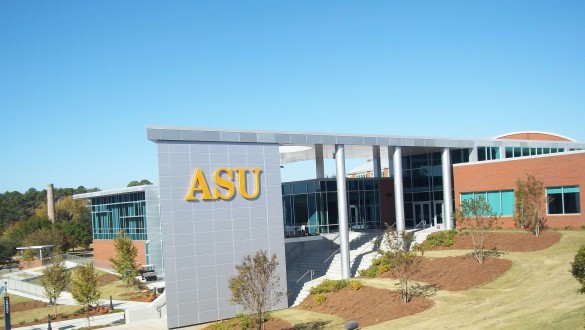 Albany State University sign