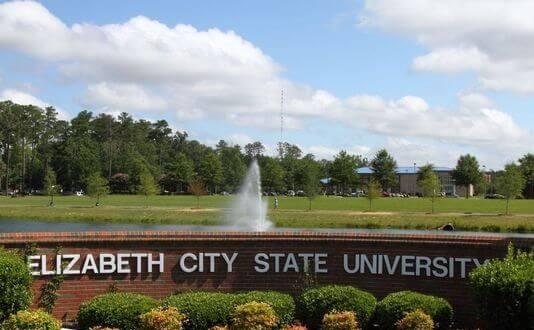 Elizabeth City State University sign
