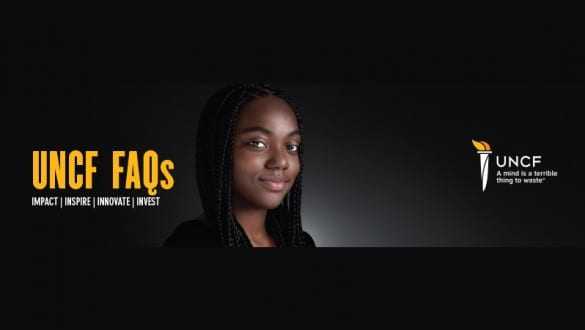 UNCF FAQs banner