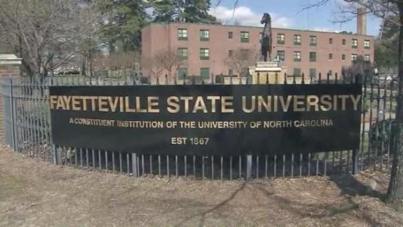 Fayetteville State University sign