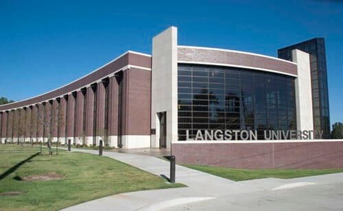 Langston University sign