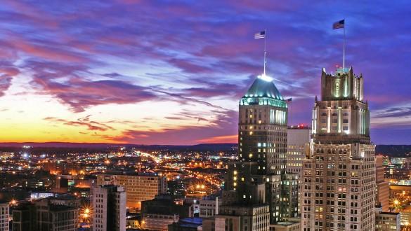 Skyline of city of Newark