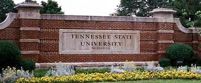 Tennessee State University sign