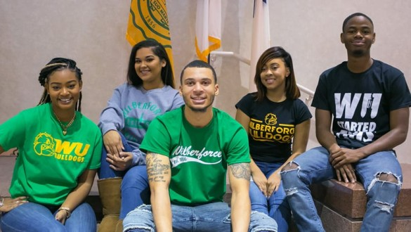 Group shot of Wilberforce University students