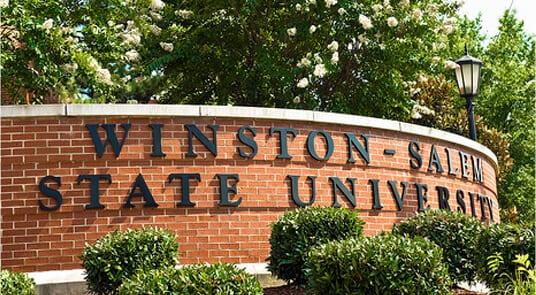 Winston-Salem State University sign
