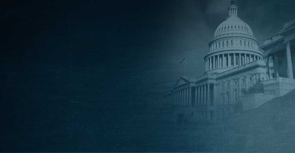 Banner image of United States capitol building in Washington, DC