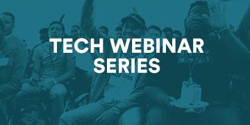 Banner image for tech webinar series