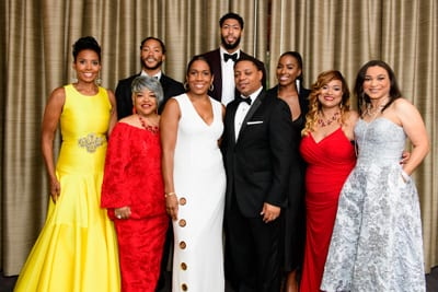 Back Row: Rose, Davis, Jennifer Ford (Essence). Front Row: Salter, Stratten, Juliana Stratton (Lt. Governor, State of Illinois) and spouse; Rollins, Dawn Thompson Williams (Exec. VP/CMO, Strength of Nature Global)