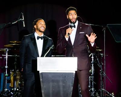 Derrick Rose, NBA Player-Minnesota Timberwolves and  Anthony Davis, NBA Player – New Orleans Pelicans