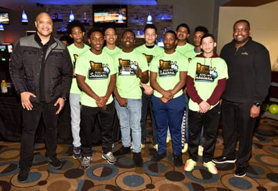 Carson and the 2019 Jack and Jill of America, Inc. Indianapolis Chapter; and the 100 Black Men Of Indianapolis Beautillion Class, with 100 Pres. and UNCF Indy Leadership Council member James Duke