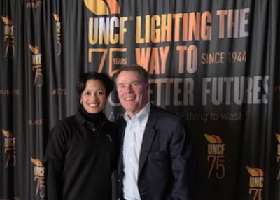 UNCF Indianapolis Regional Development Dir. Andrea Neely and Mayor Joe Hogsett