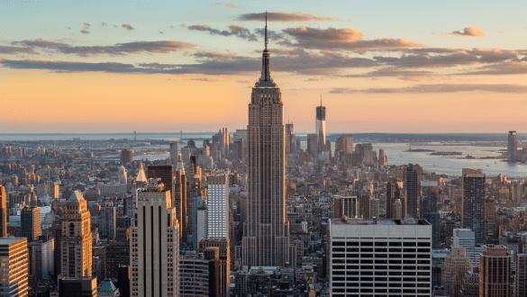 Skyline of city of New York