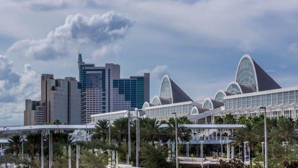 Skyline of city of Orlando