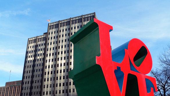 Skyline of city of Philadelphia