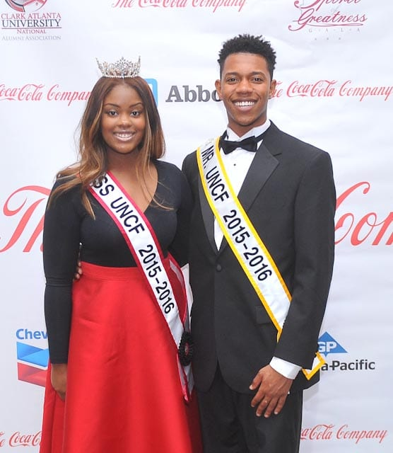 Mr. and Miss Clark Atlanta UNCF