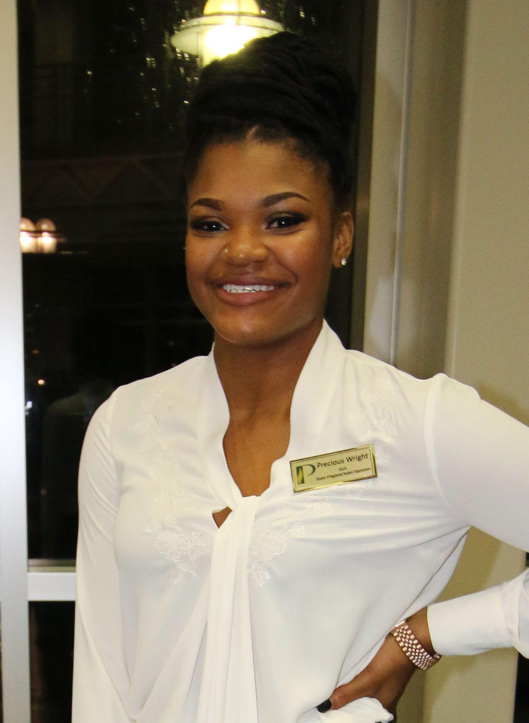 Precious Wright, SGA President