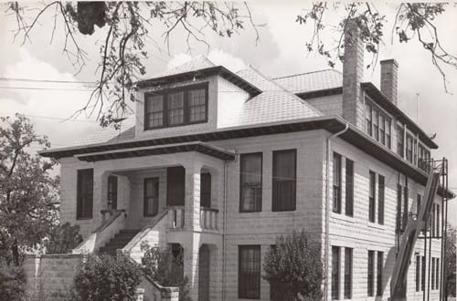Evans Industrial, the oldest building on campus, built in 1912; UNCF-member institution Huston-Tillotson University