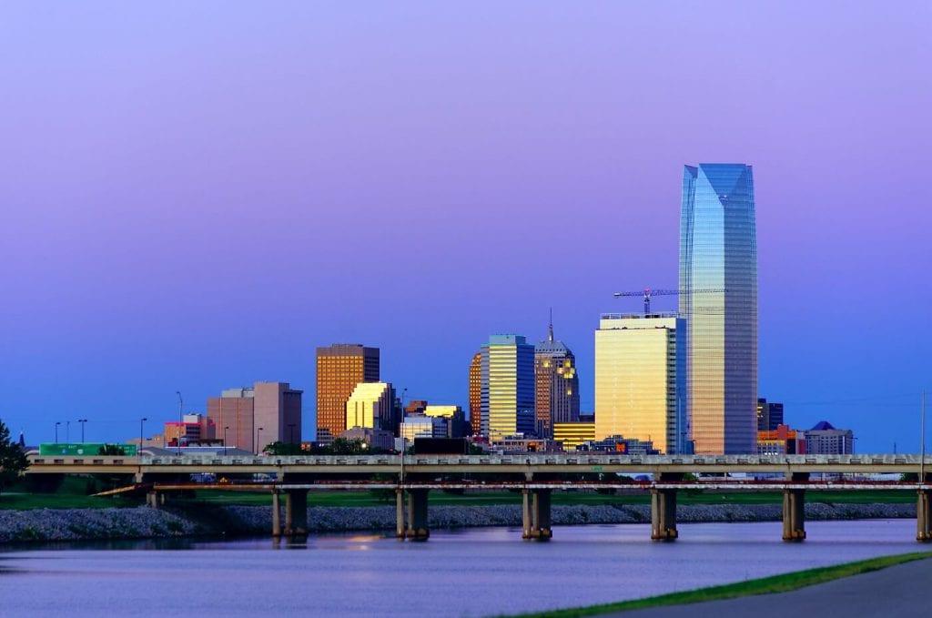 Skyline of a city in Oklahoma