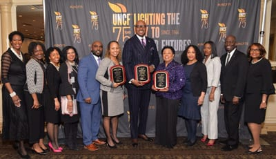 Princeton Committee members and UNCF NJ staff alongside event honorees