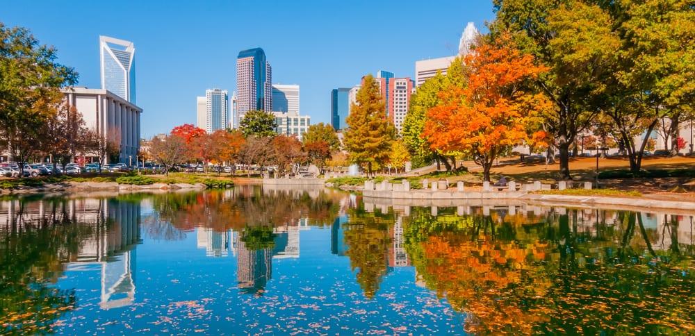 Skyline of city of Charlotte