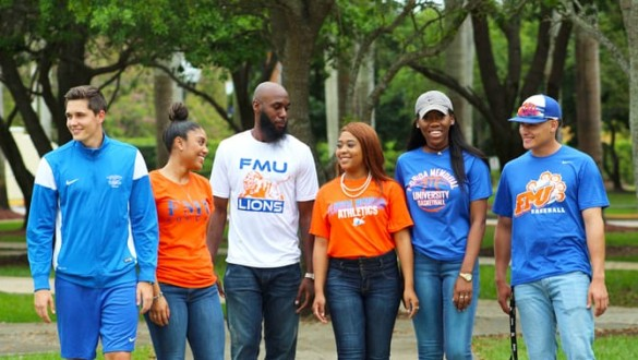 Group of 6 college students at Florida Memorial University