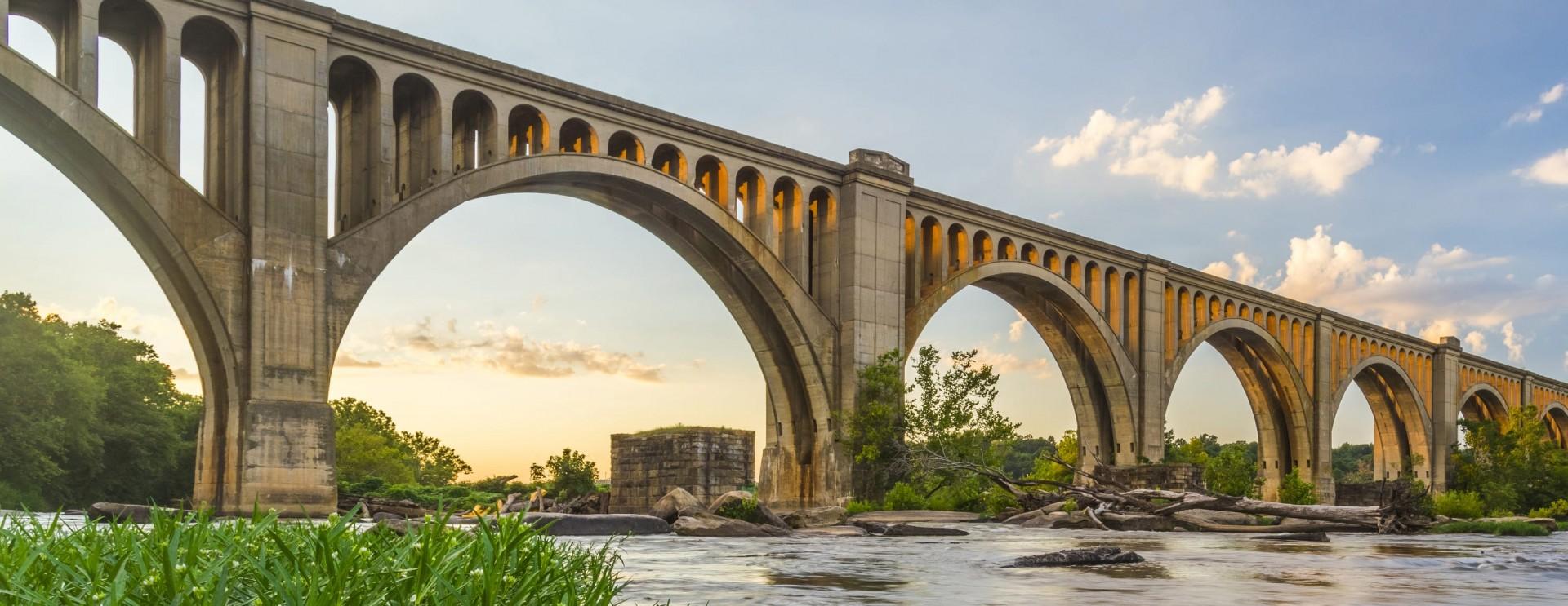 Bridge over James River in Virginia
